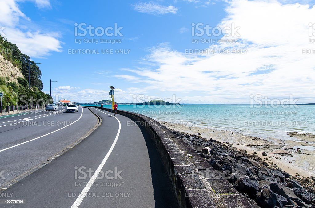 Tamaki Drive which is located at Auckland,New Zealand stock photo