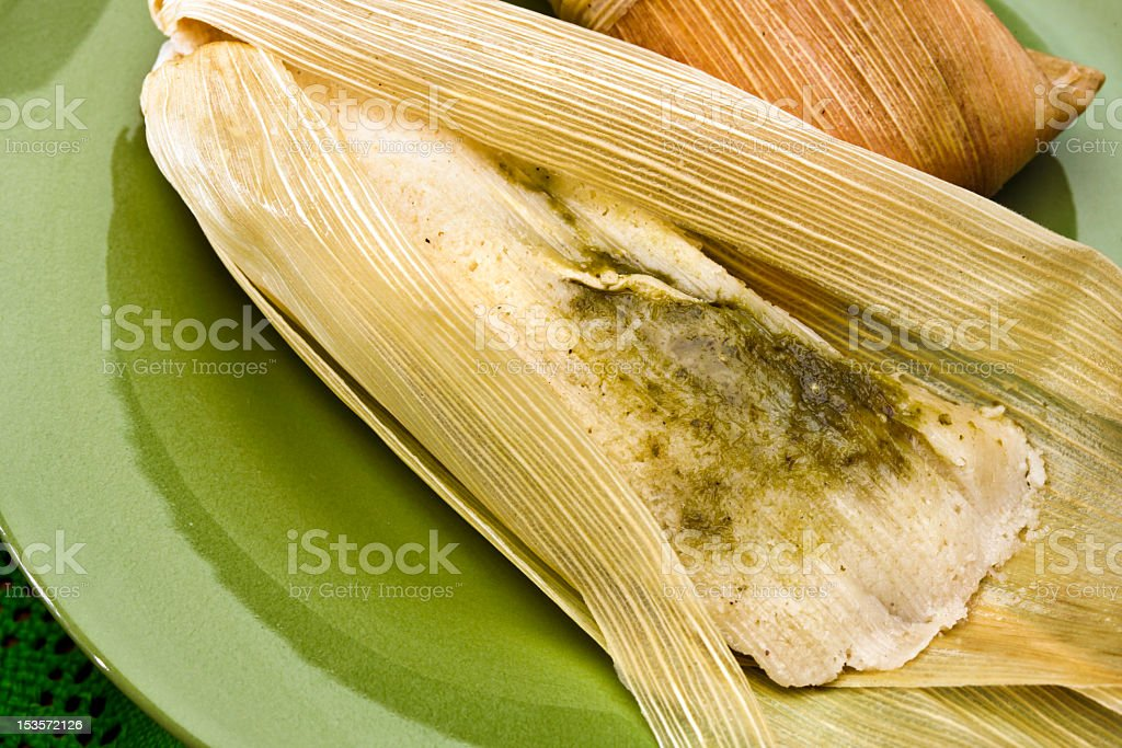 Tamales, a traditional Mexican dish stock photo