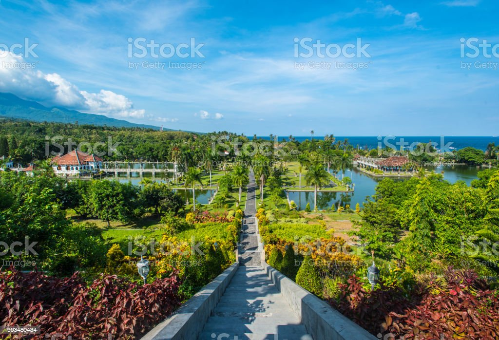 Taman Ujung Water Palace Scenery In Baliindonesia Stock Photo More