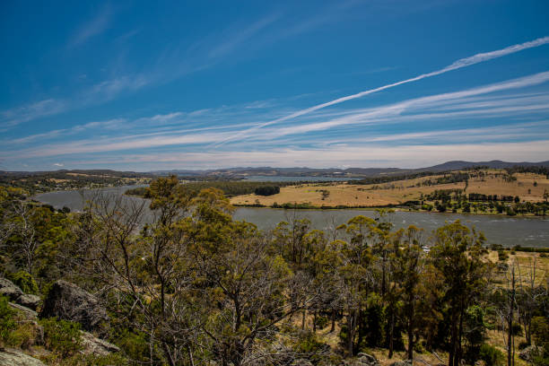 Tamar River - Launceston, Tasmania stock photo