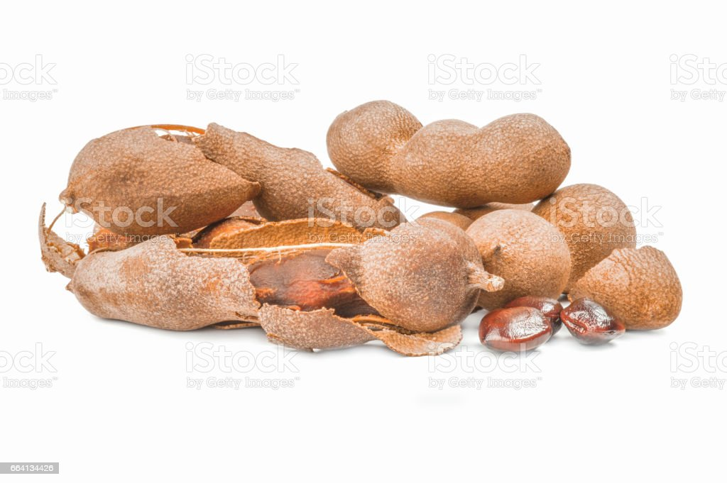 Tamarind isolated on a white background cutout foto stock royalty-free