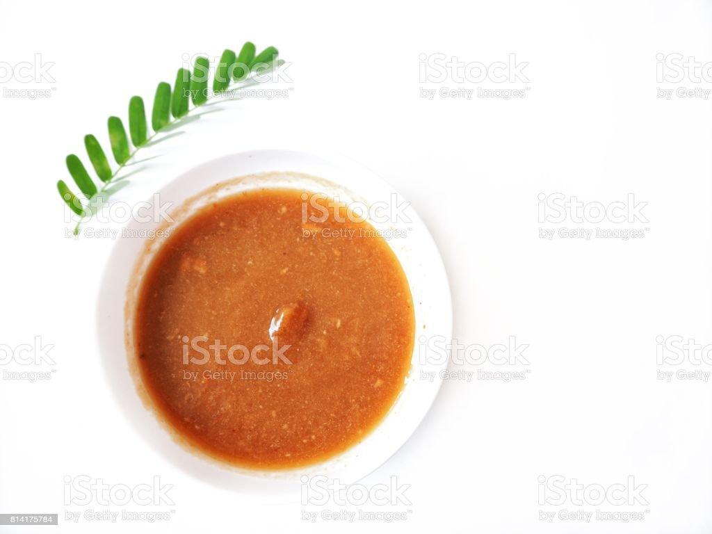 Tamarind sauce isolated stock photo