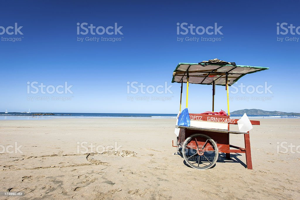 Tamarindo Beach Costa Rica Juice Wheelbarrow royalty-free stock photo