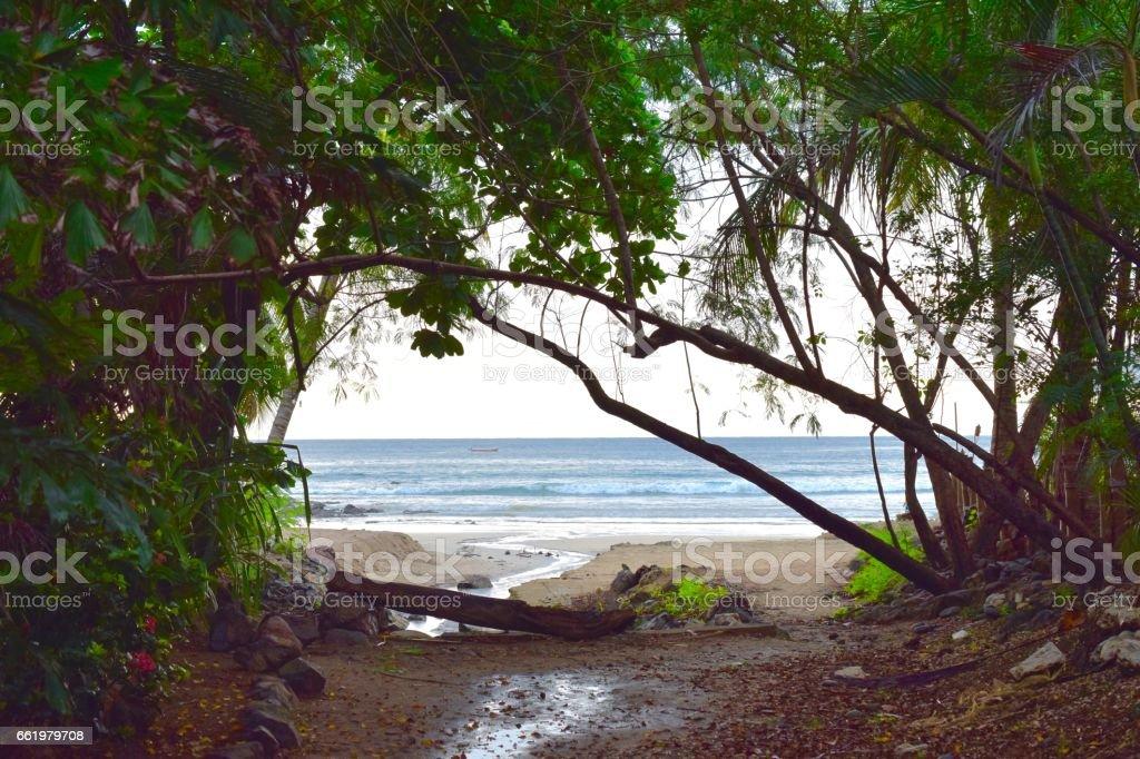 Tamarindo Playa in Costa Rica royalty-free stock photo