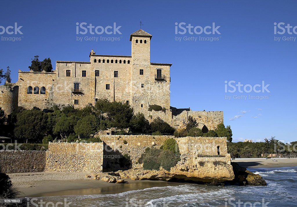 Tamarit castle royalty-free stock photo