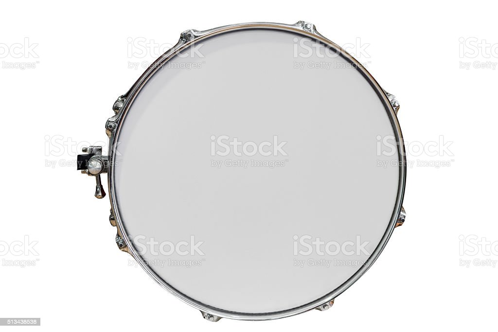 tambourine isolated on white background stock photo