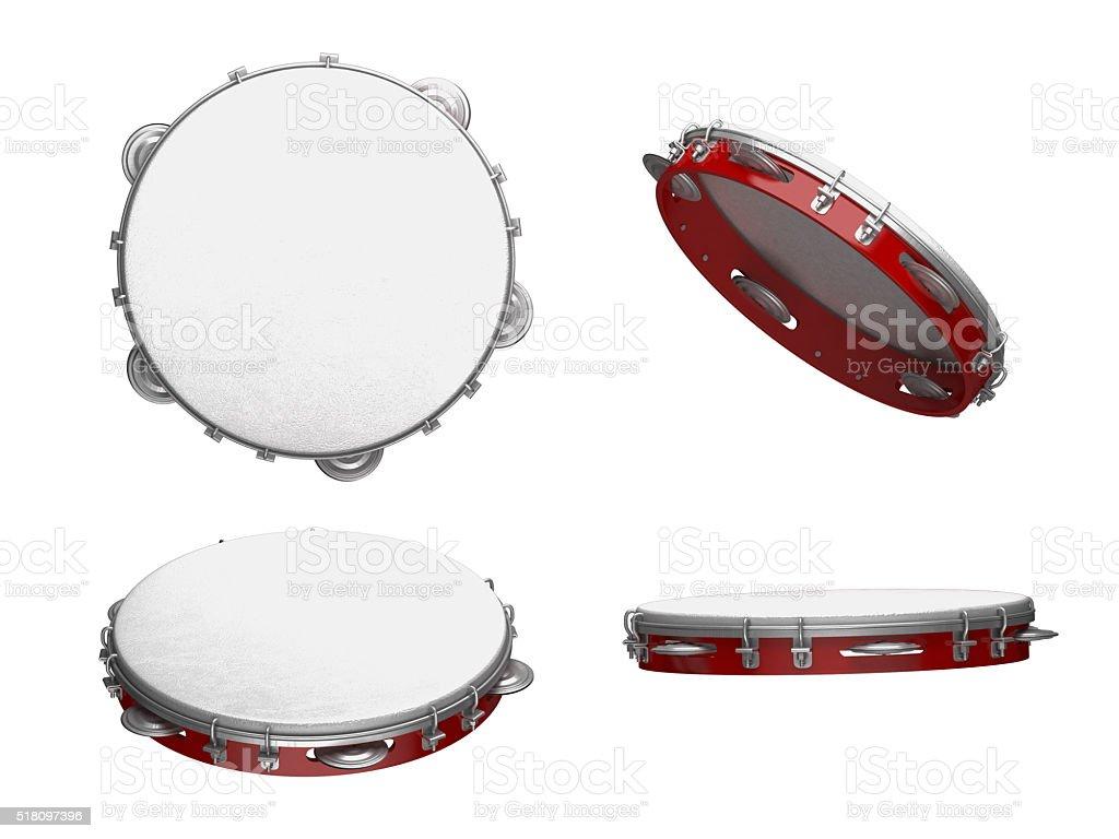 tambourine musical instrument stock photo