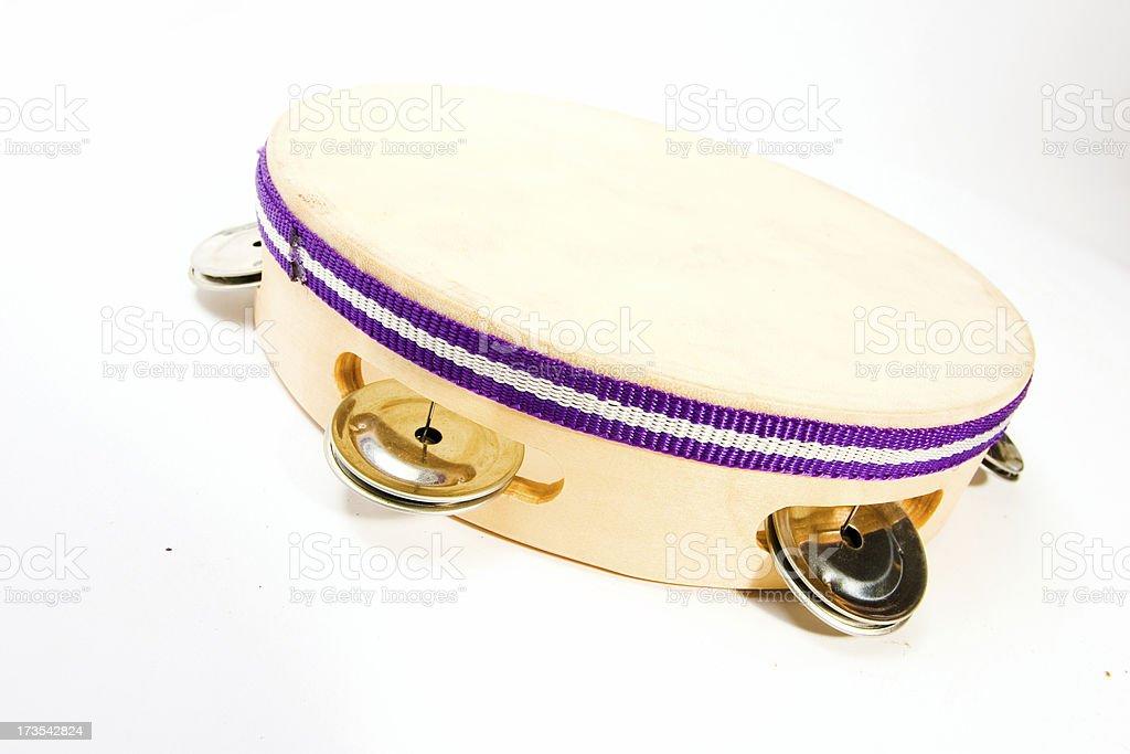 Tambourine on white royalty-free stock photo