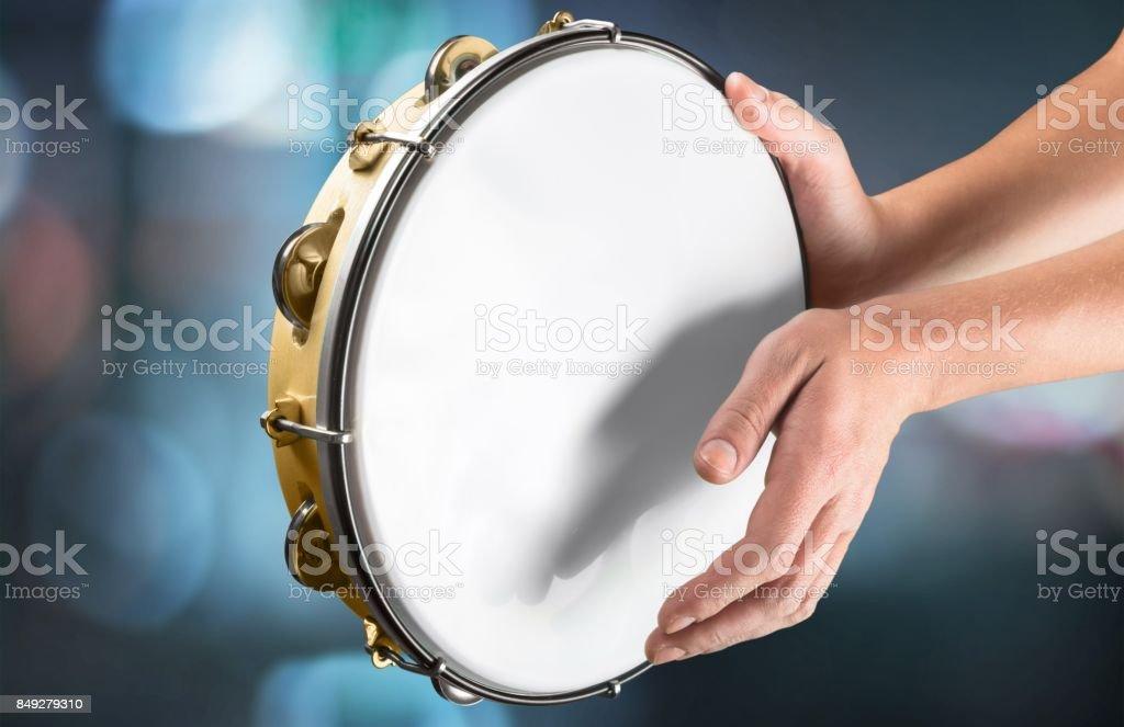 Tambourine. stock photo