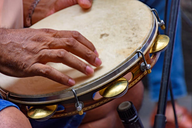 tambourine player - samba imagens e fotografias de stock
