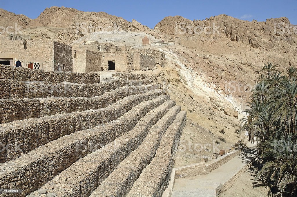 Tamerza village (Tunisia) royalty-free stock photo