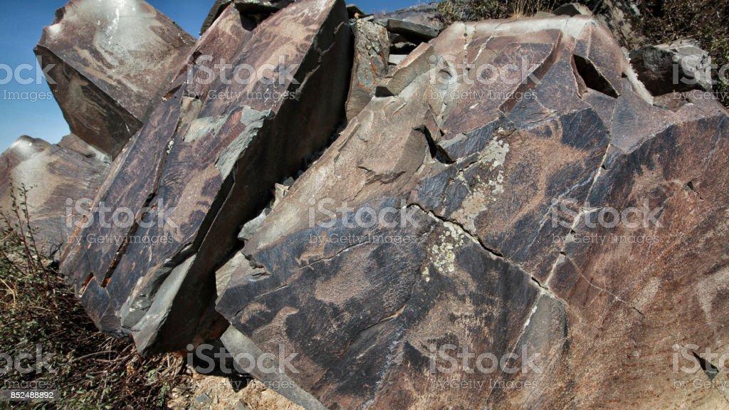 Tamgaly Petroglyphs stock photo