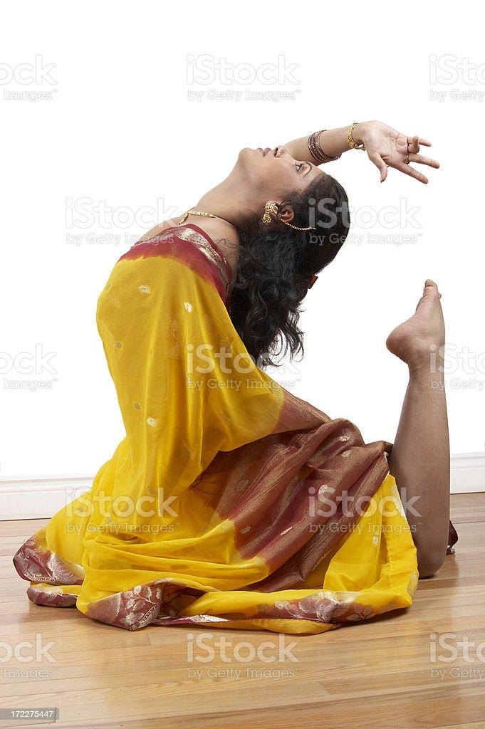 Tamil Dancer royalty-free stock photo