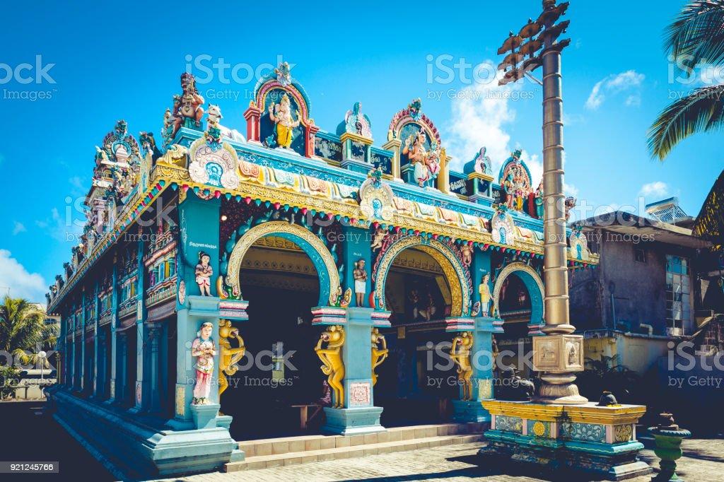 tamil surya oudaya sangam temple on mauritius island, africa stock photo