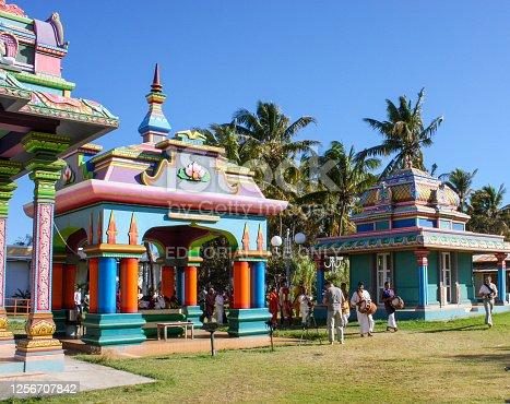 Tamoul Temple in Saint-Pierre, La Reunion Island.