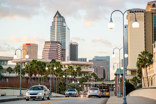 Tampa downtown, Florida, USA stock photo
