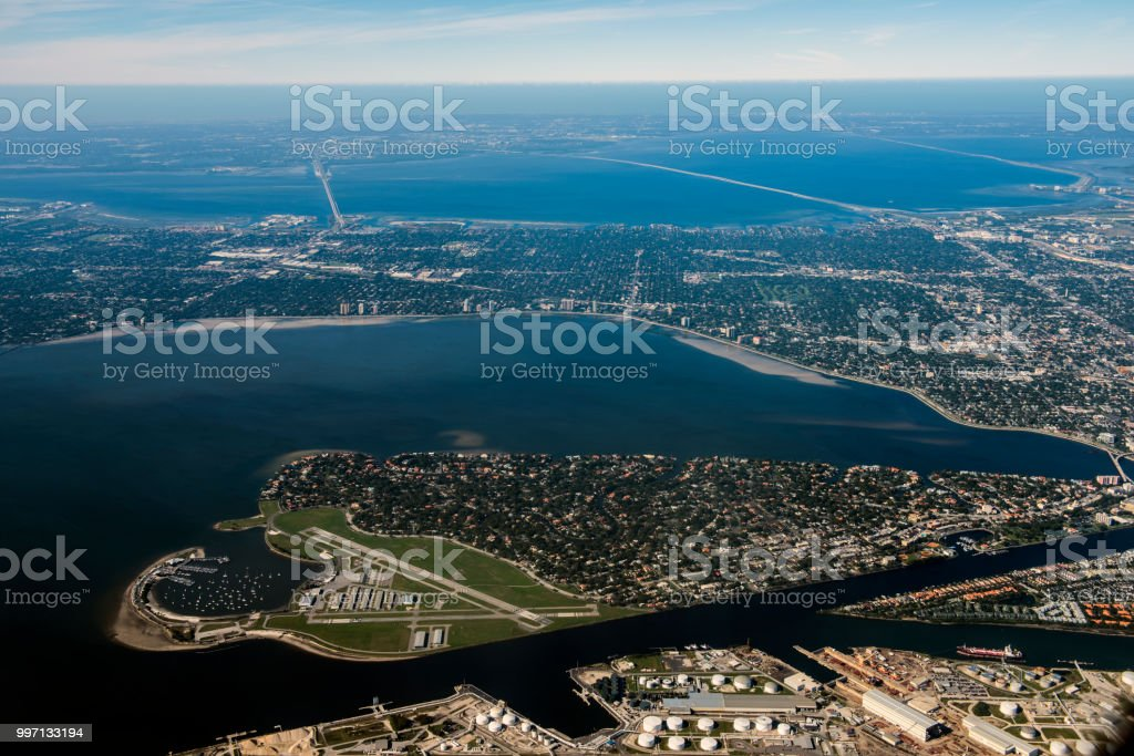 Tampa, Florida Aerial View stock photo
