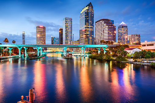 Tampa Florida Skyline Stock Photo - Download Image Now