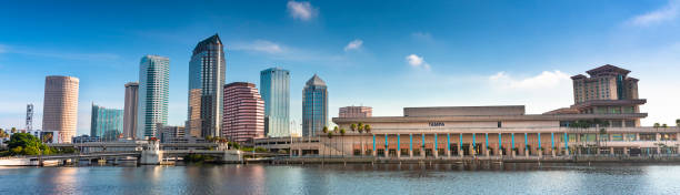 Tampa Florida USA downtown city skyline in the morning stock photo