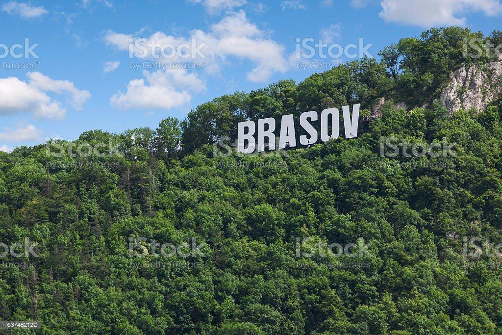 Tampa mountain, Brasov stock photo