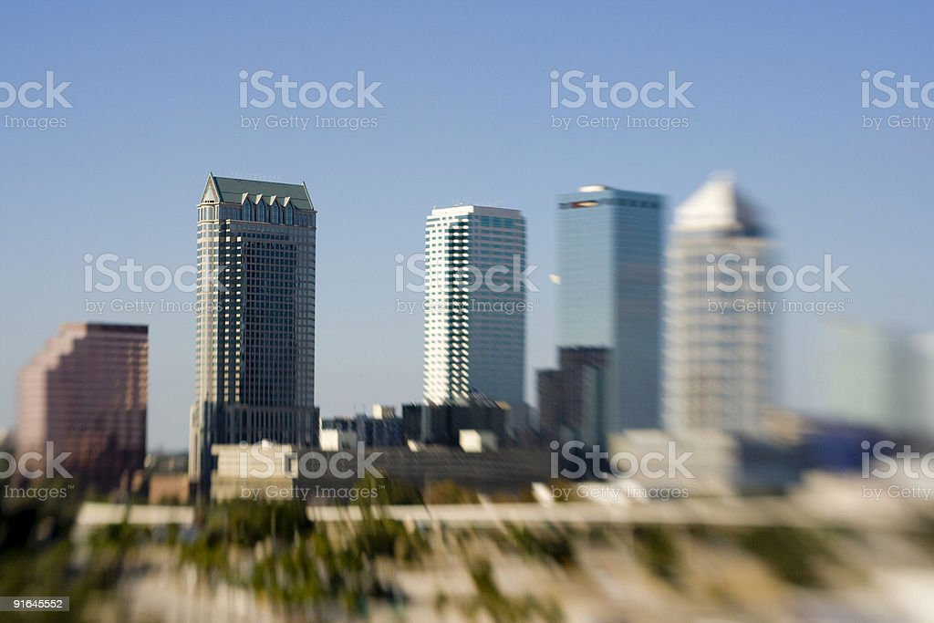 Tampa Skyline (lensbaby) stock photo