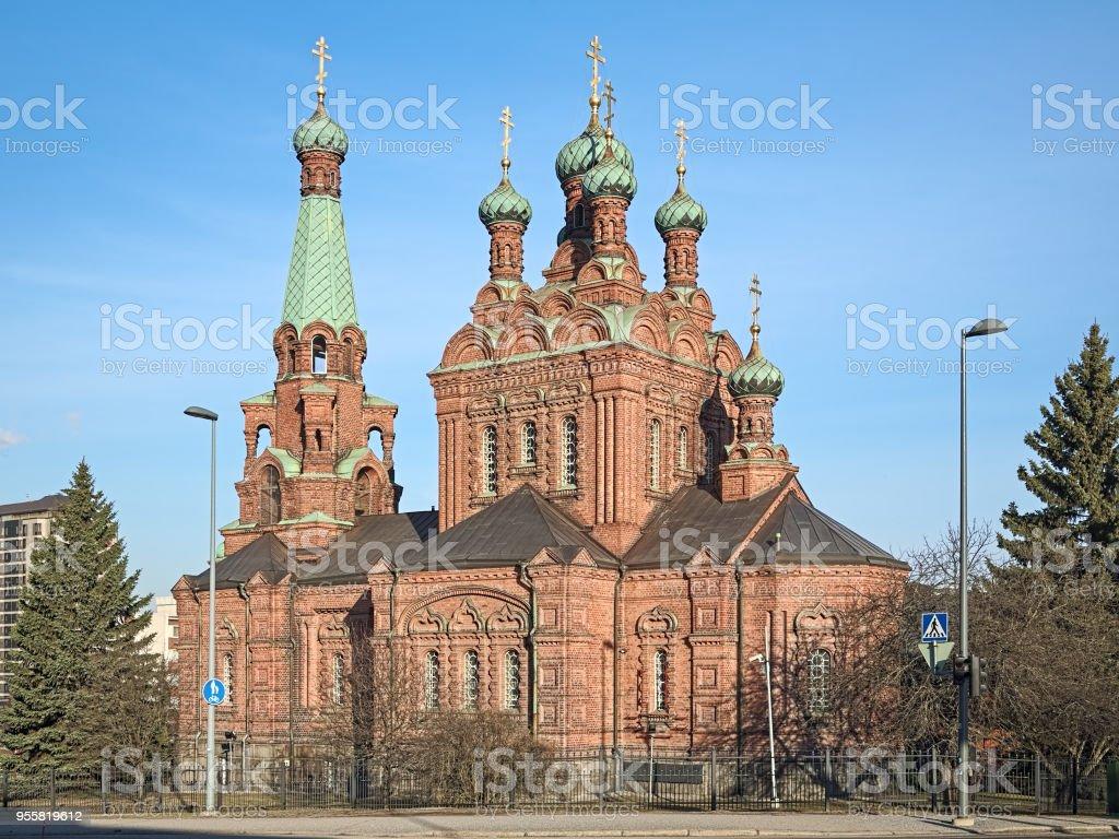 Tampere Orthodox Church, Finland stock photo
