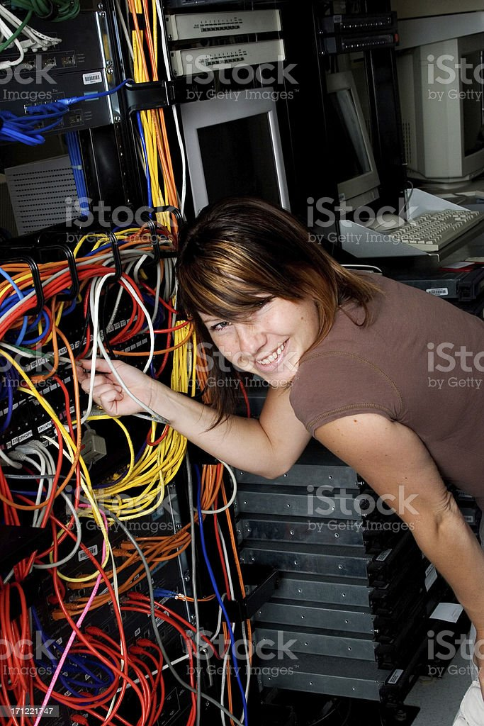 Tampering with the network royalty-free stock photo
