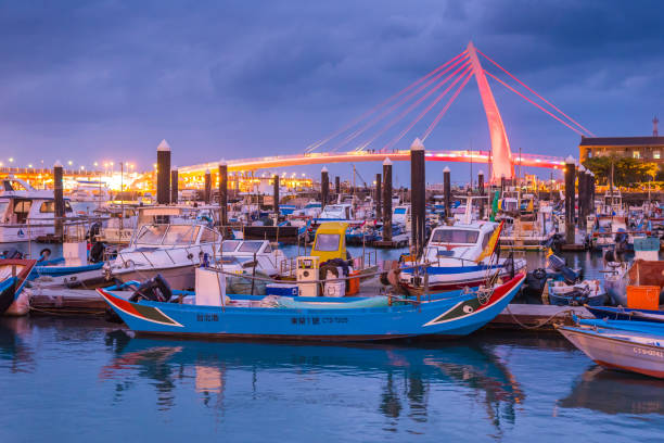 Tamshui Fishermans Wharf und Liebhabers Brücke – Foto