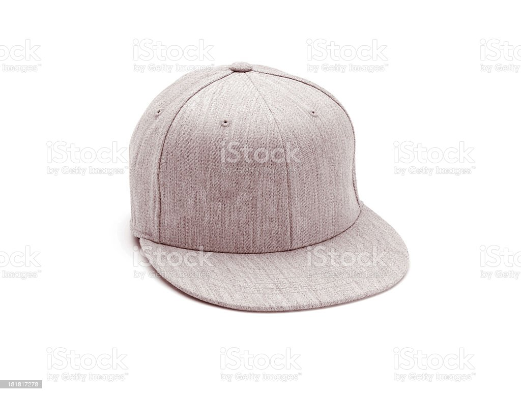 Tan Baseball Cap isolated on white royalty-free stock photo