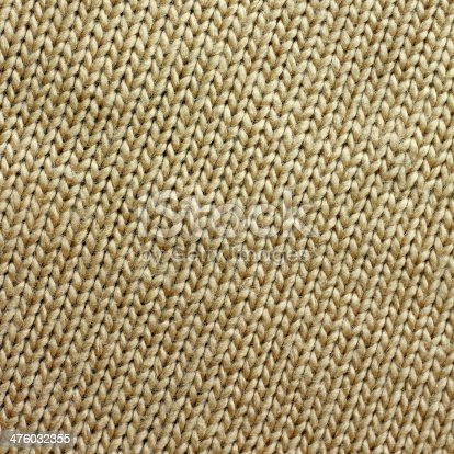 istock Tan Knitted Tweed Fabric Square Background 476032355