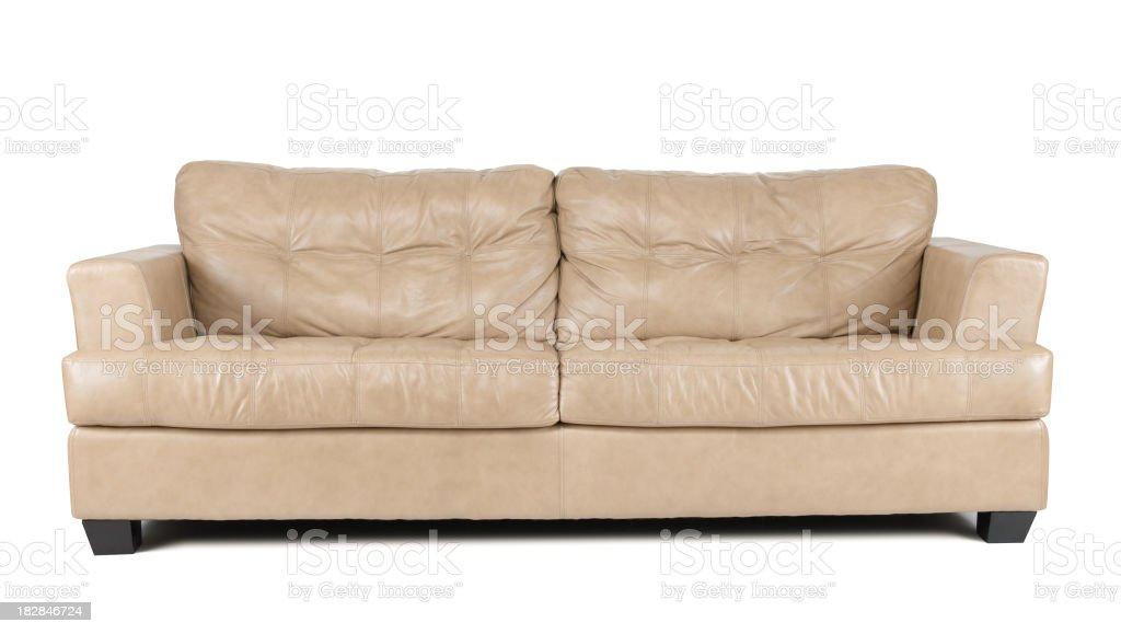 Tan Leather Sofa stock photo