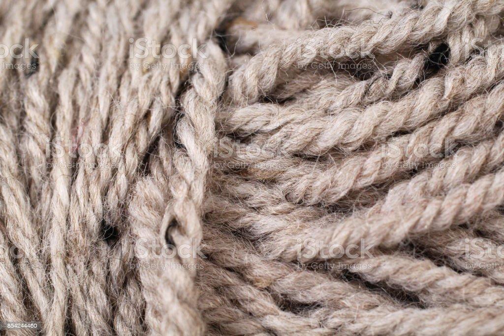 Tan Yarn Texture Close Up stock photo