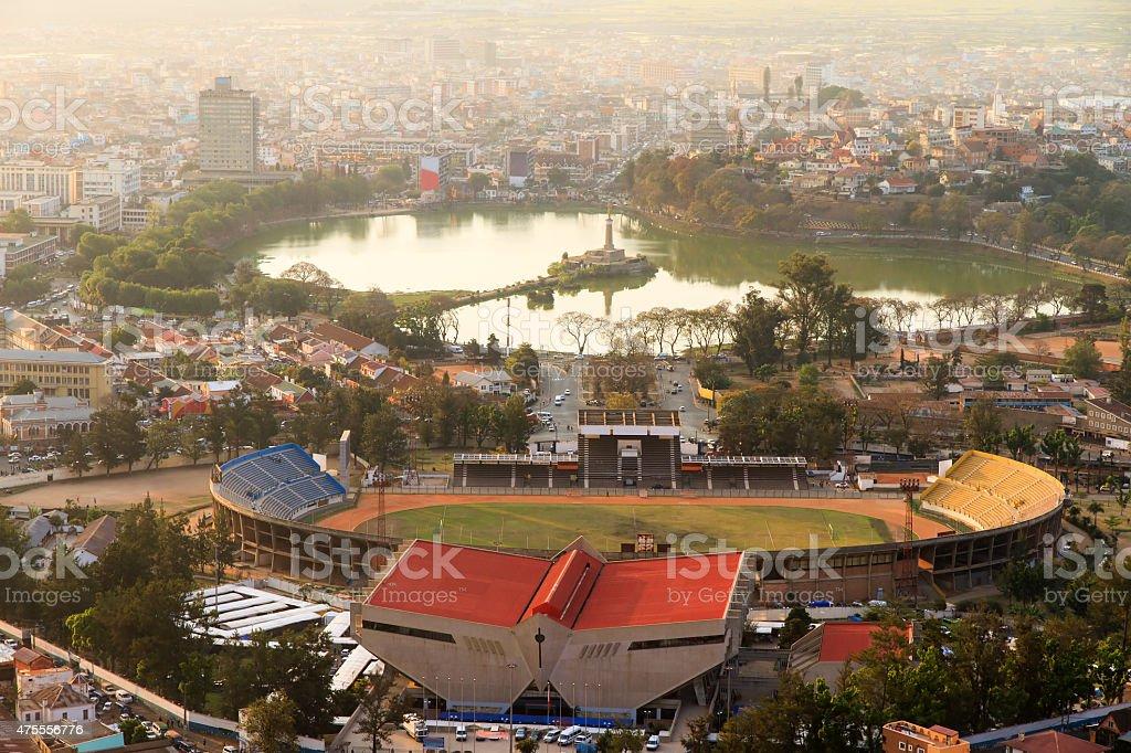 Tana stadium cityscape stock photo