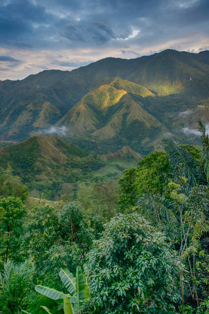 Tana Toraja Highlands of South Sulawesi, Indonesia View into the Tana Toraja Highlands of South Sulawesi (former Celebes) Indonesia. sulawesi stock pictures, royalty-free photos & images