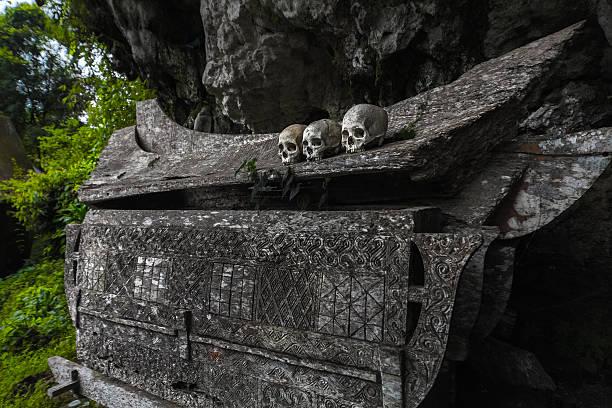 tana toraja - die toteninsel stock-fotos und bilder