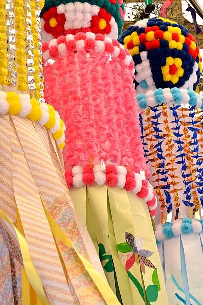 tanabata festival decoration - 七夕の写真 ストックフォトと画像