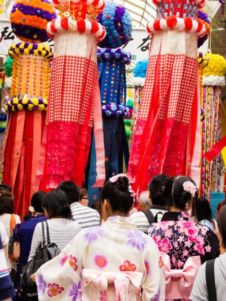 仙台市の七夕祭り (七夕) - 七夕の写真 ストックフォトと画像