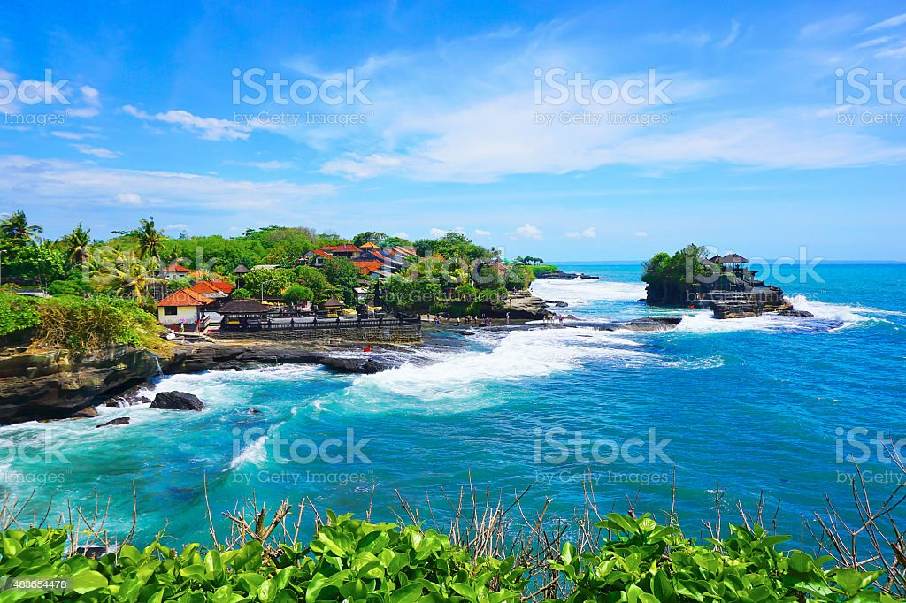 Tanah Lot temple stock photo