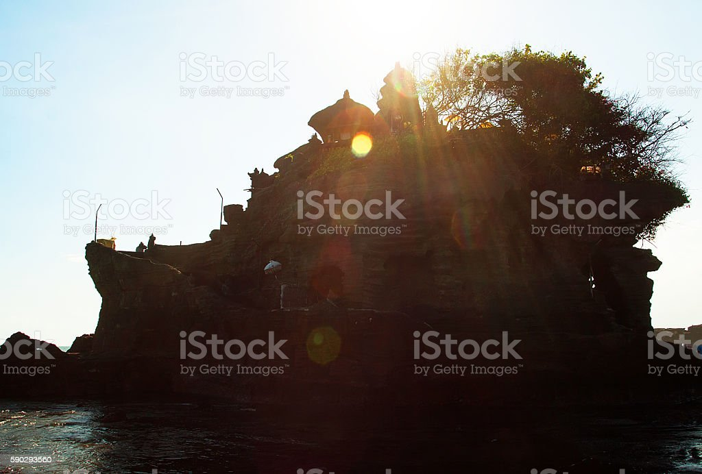 Tanah Lot Temple royaltyfri bildbanksbilder
