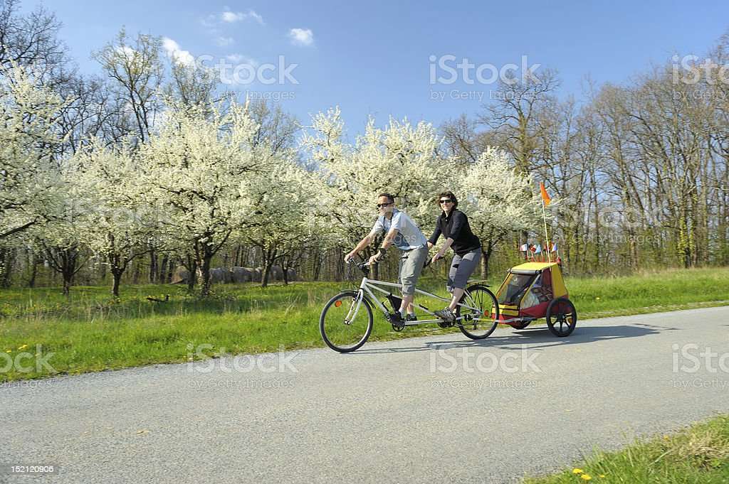 Tandem Bicycle two stock photo