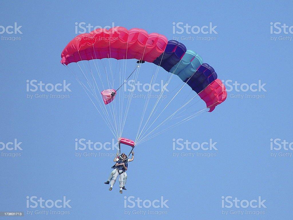 Tandem Jump #1 royalty-free stock photo