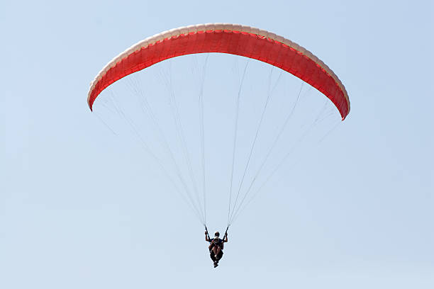 Tandem Jumpers stock photo