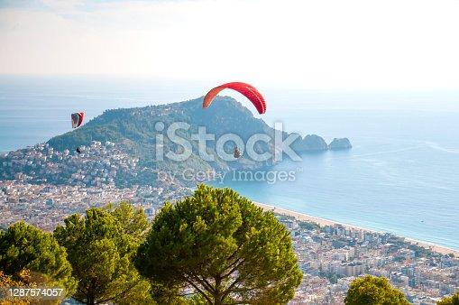 istock Tandem paragliding 1287574057