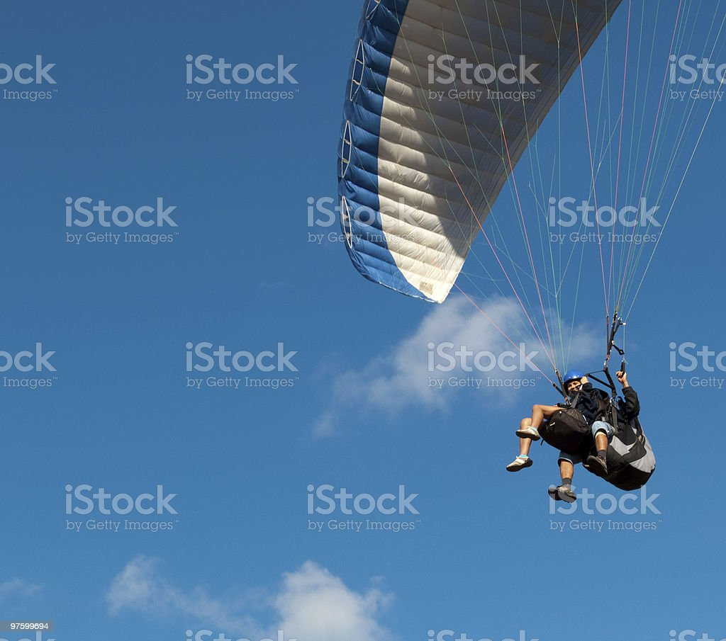 Tandem paragliding royalty-free stock photo