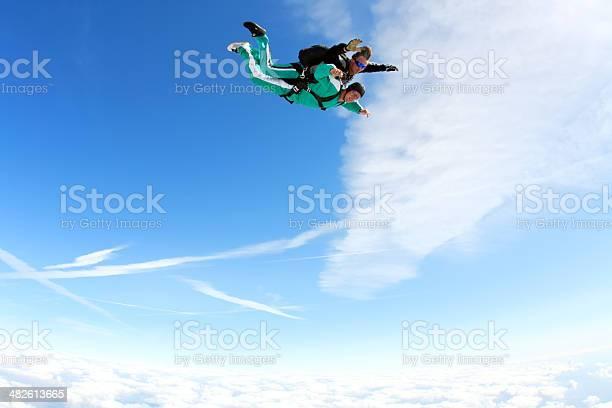 Tandem-skydiving - Lizenzfrei Abenteuer Stock-Foto