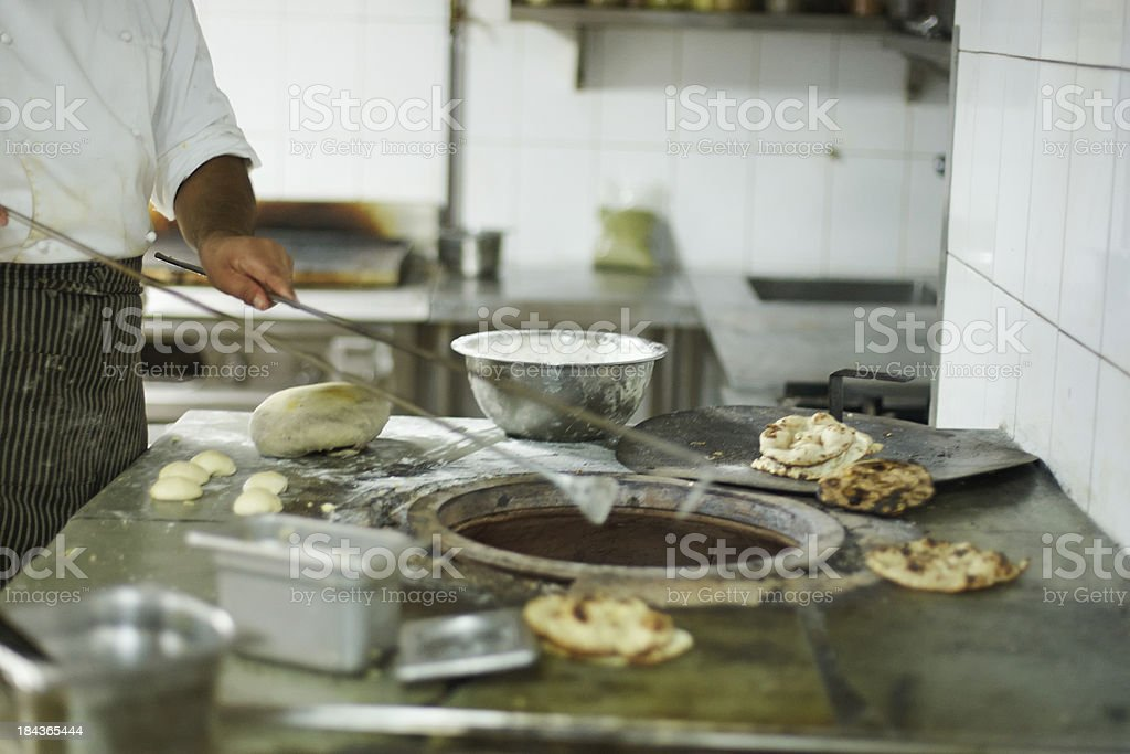 Tandoor oven in Indian hotel kitchen stock photo