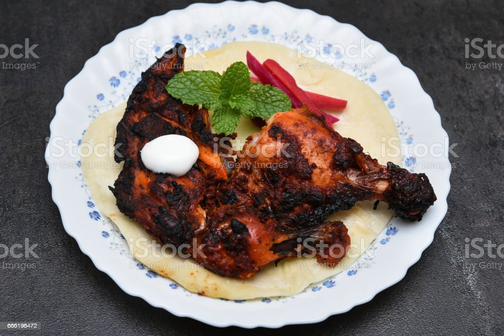 tandoori chicken Indian food stock photo