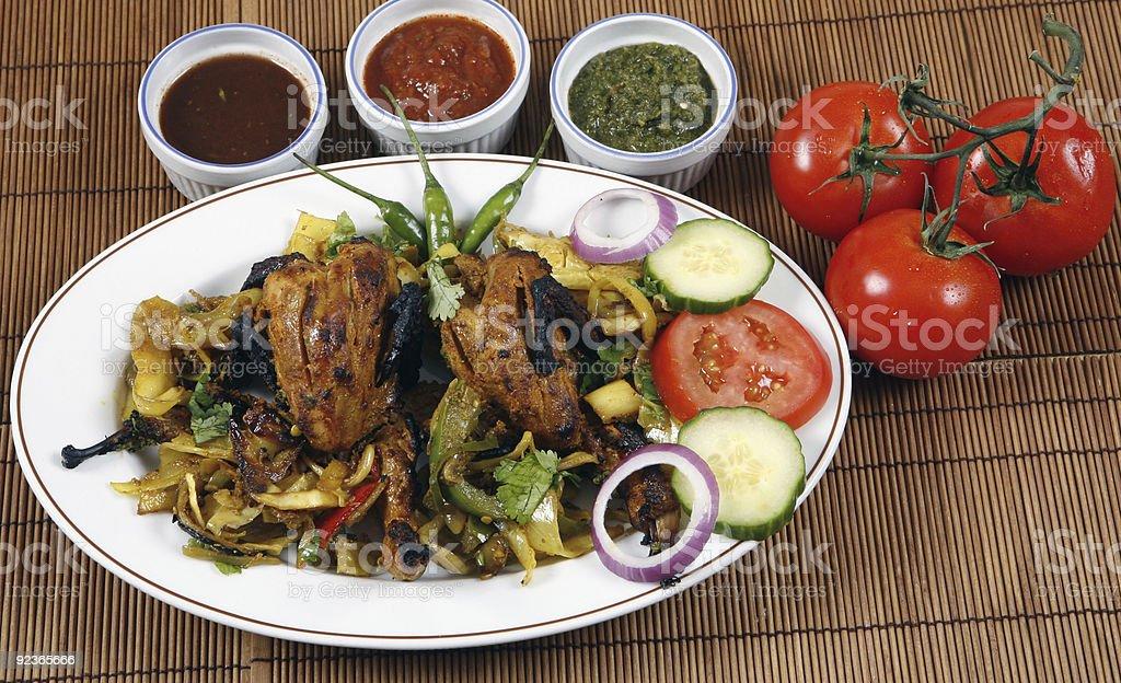 tandoori quail royalty-free stock photo