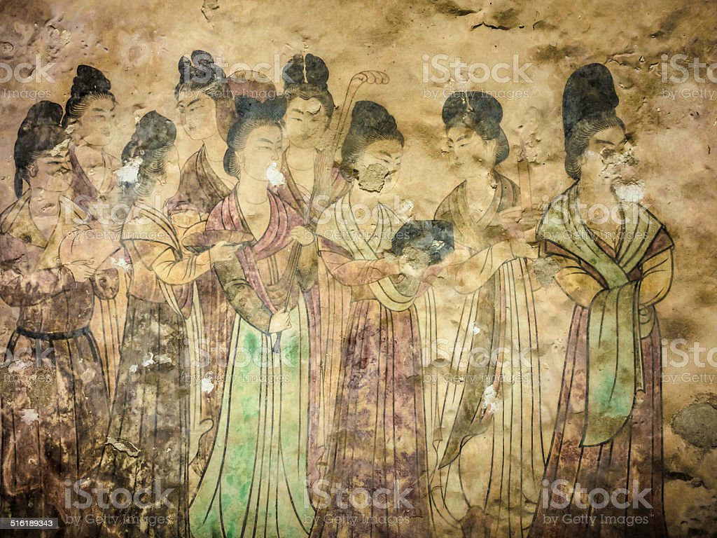 唐朝のフレスコ画 - 1人のストックフォトや画像を多数ご用意 - iStock