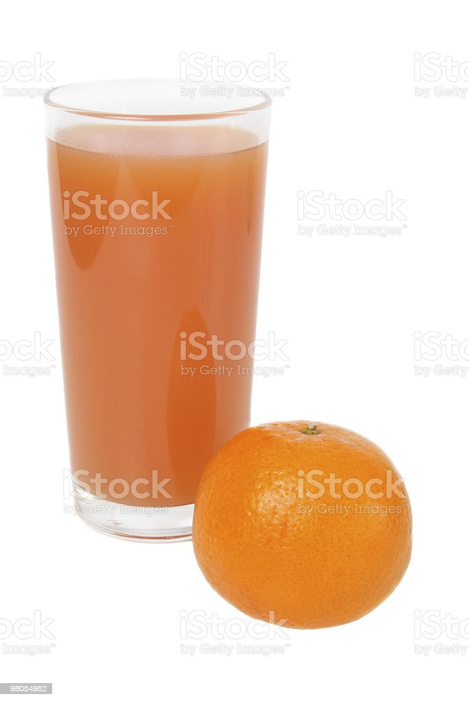 Tangerine and glass of juice royalty-free stock photo